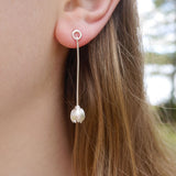 Bud drop earring