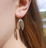 Snowdrop petal earrings
