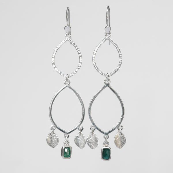 Green tourmaline sorrel earrings
