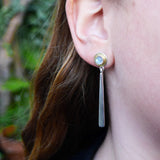 Moonstone forged drop earring