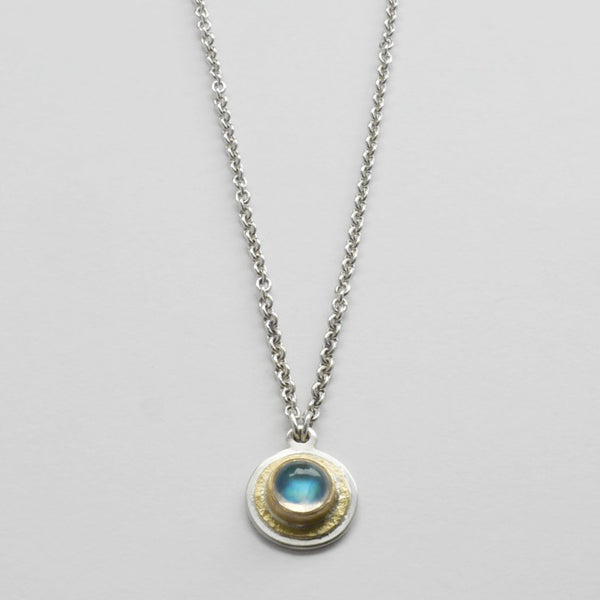 Moonstone hammered pendant