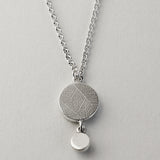 Moonstone drop fern pendant
