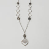 Labradorite teardrop bead necklace