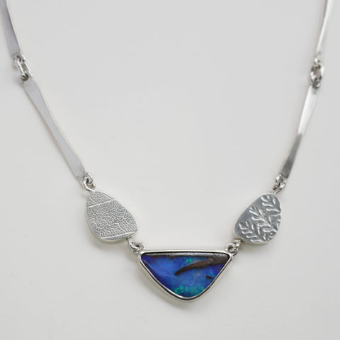 Australian opal wedge necklace