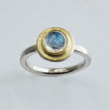 Moonstone gold top ring