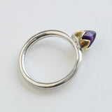 Amethyst bud ring
