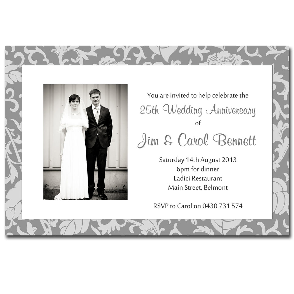 Carol & Jim - 25th 50th Wedding Anniversary Invitation