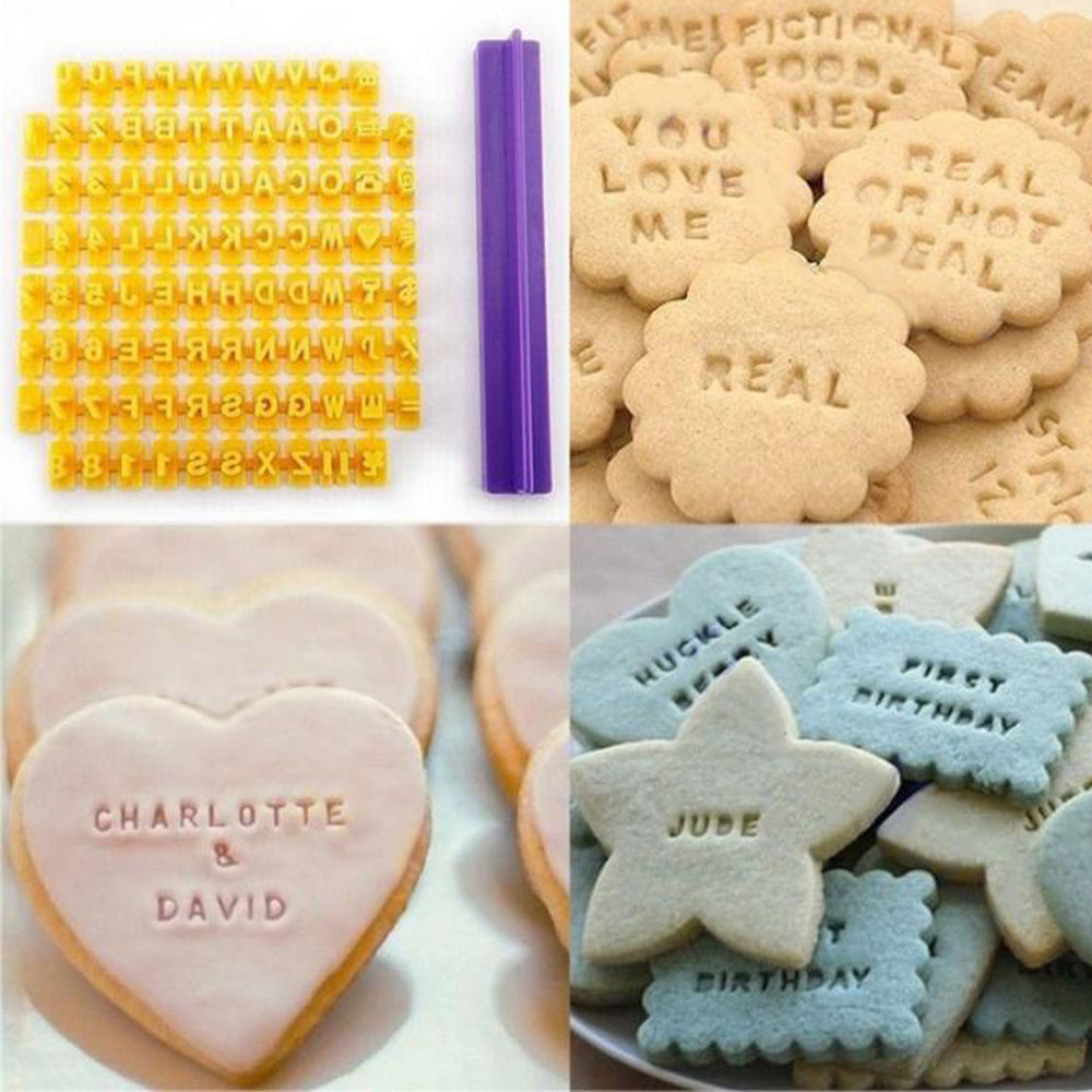 Alphabet/Number Cookie Fondant Stamp Embosser
