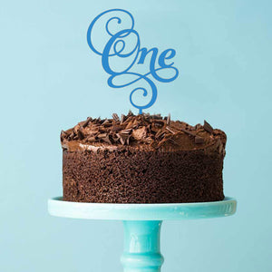 Number One Acrylic Cake Topper