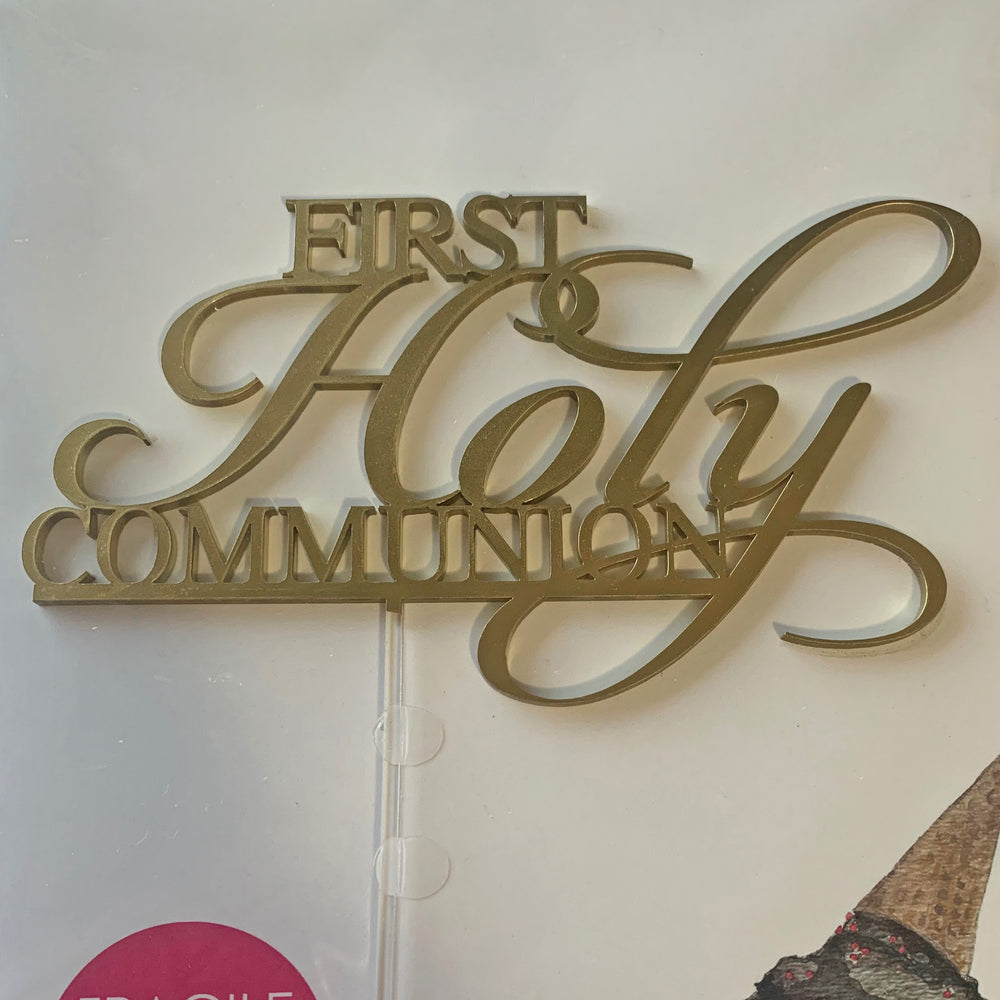 First Holy Communion Acrylic Cake Topper
