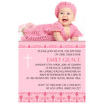 Emily - Baptism/Chistening Invitation with Photo