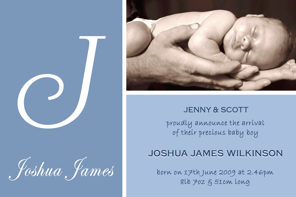 Joshua - Baby Boy Birth Announcement