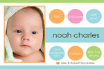 Noah - Baby Boy Birth Announcement
