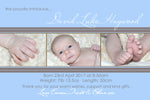 David - Baby Boy Birth Announcement