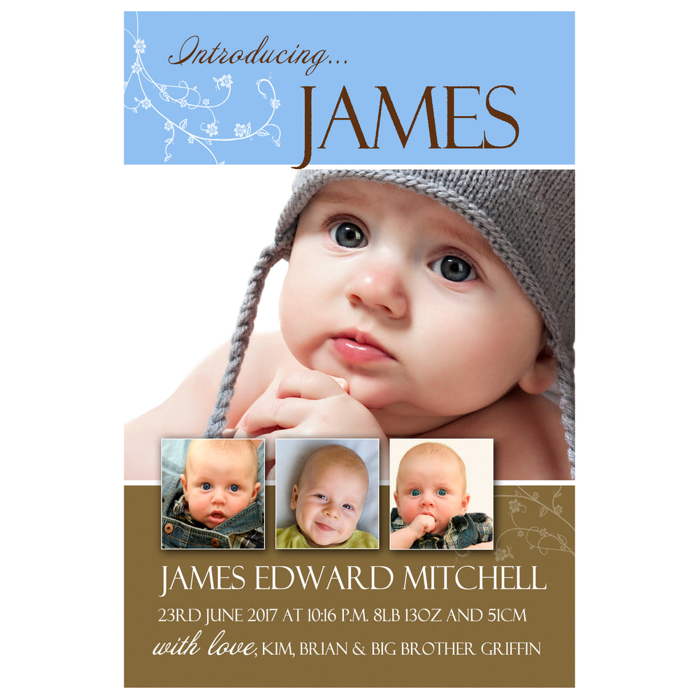 James - Baby Boy Birth Announcement
