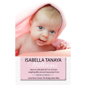 Isabella - Baby Girl Birth Announcement