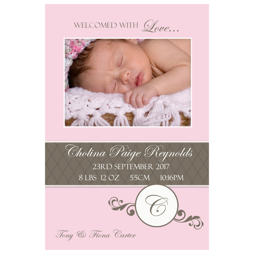 Cholina - Baby Girl Birth Announcement