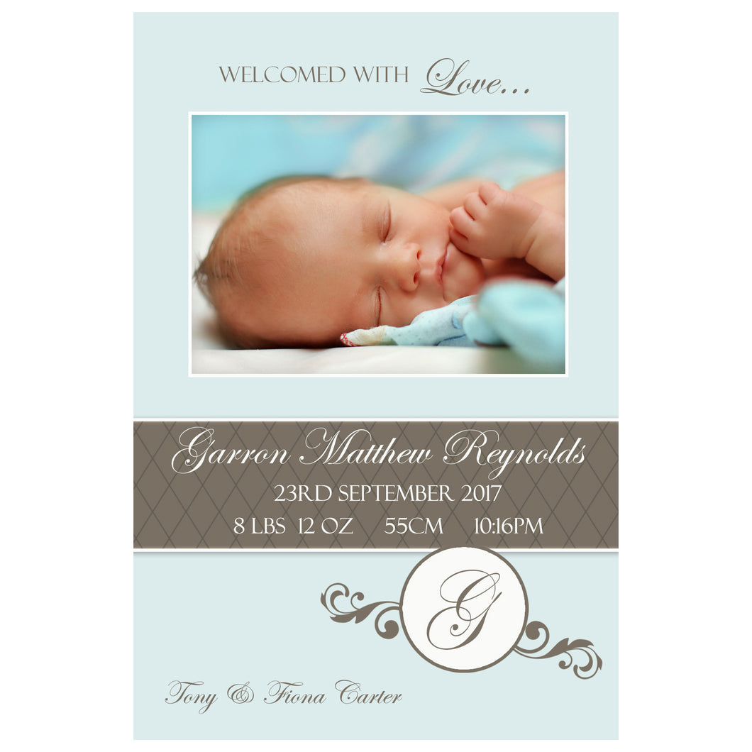 Garron - Baby Boy Birth Announcement