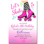 Ryleah - Rollerskating Birthday Invitation