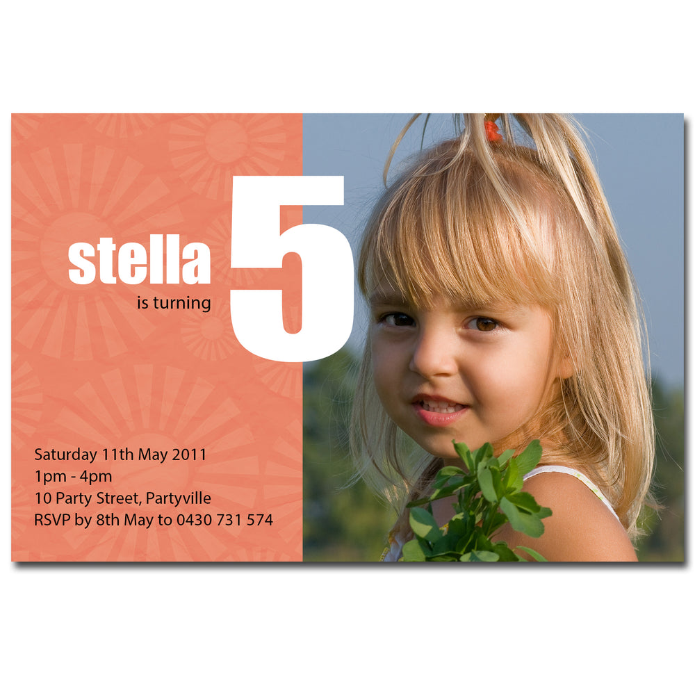 Stella - Birthday Invitation with Photo