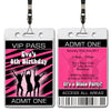 Eva - Disco Dance VIP Lanyard Birthday Invitation