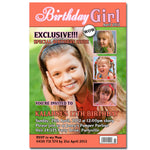 Kalahni - Magazine Cover Style Birthday Invitation
