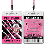 Britney - Rock & Roll VIP Lanyard Birthday Invitation with Photo
