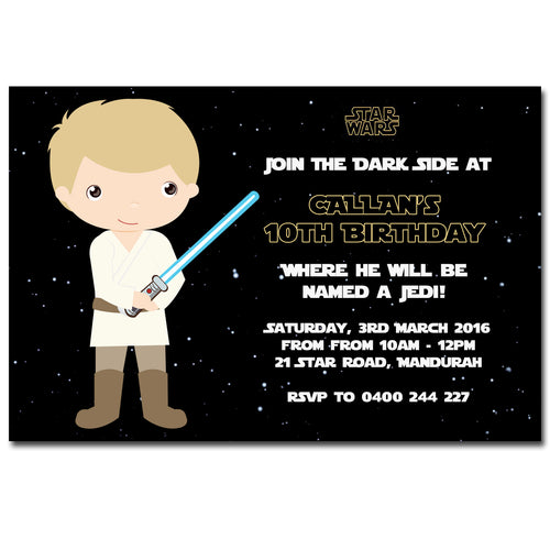 Callan - Star Wars Birthday Invitation