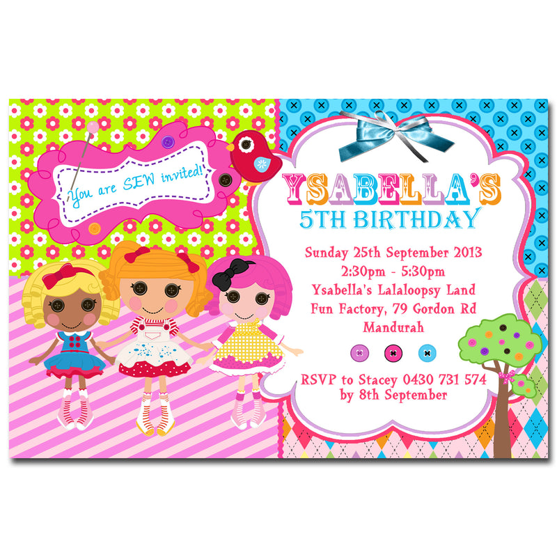 Ysabella - Lalaloopsy Birthday Invitation