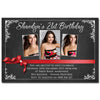 Shaedyn - Chalkboard Ribbon Birthday Invitation with Photos