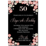 Priya - Floral Birthday Invitation