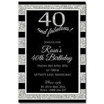 Rosa - Glitter Bling Birthday Invitation