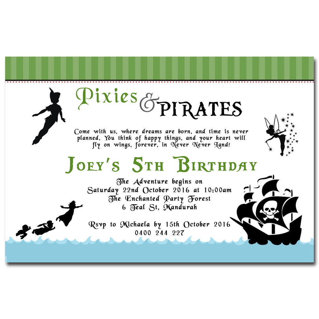 Joey - Peter Pan Birthday Invitation