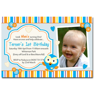 Terner - Hoot Birthday Invitation
