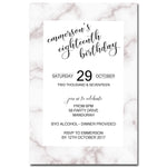 Emmerson - Marble Birthday Invitation