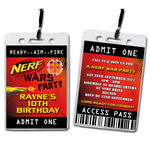 Rayne - Nerf Wars VIP Lanyard Birthday Invitation