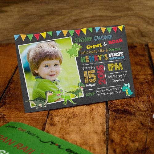 Henry - Dinosaur Birthday Invitation