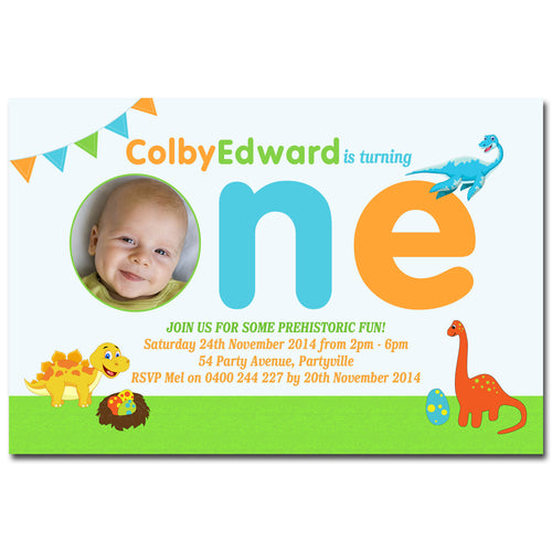 Colby - Dinosaur Birthday Invitation