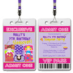 Holly - Sleepover VIP Lanyard Birthday Invitation