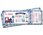 Paxton - Train Ticket Style Invitation