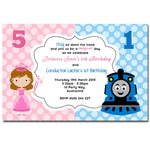 Savi - Princess & Thomas Birthday Invitation