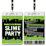 Brodey - Slime Themed VIP Lanyard Birthday Invitation