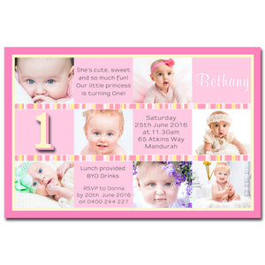 Bethany - Photo Collage Birthday Invitation