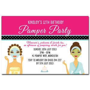Kinsley - Pamper Spa Party Birthday Invitation
