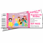 Kennedy - Princess Themed Ticket Style Invitation