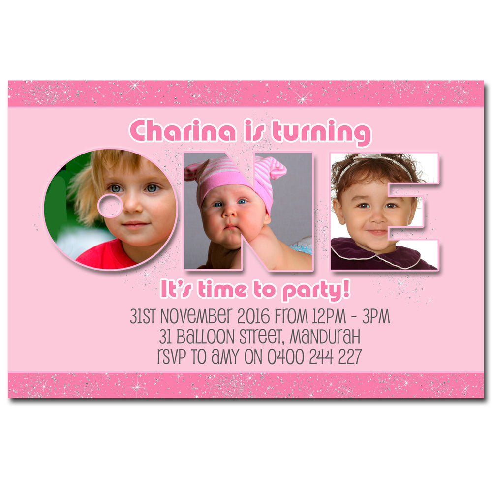 Charina - Photo Collage Birthday Invitation