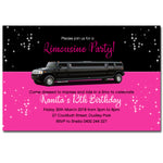 Kanita - Limousine Birthday Invitation