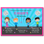 Callie - Disco Dance Party Birthday Invitation