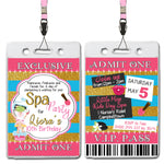 Liora - Pamper Spa Party VIP Lanyard Birthday Invitation
