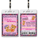 Tenley - Build A Bear Workshop VIP Lanyard Birthday Invitation